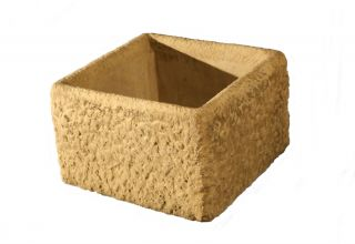 H37cm Concrete Rustic Finish Cube Planter