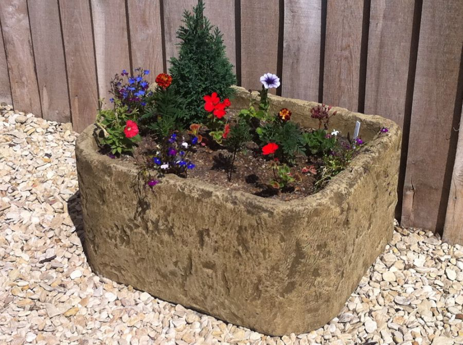 L65cm Natural Finish Deep Bullnose Planter