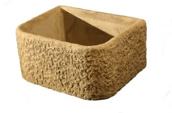 L65cm Concrete Rustic Finish Deep Bullnose Planter