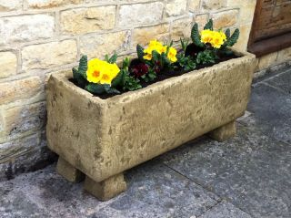 L91cm Concrete Natural Finish Long Deep Planter