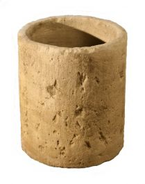H43cm Concrete Natural Finish Tall Cylinder Planter