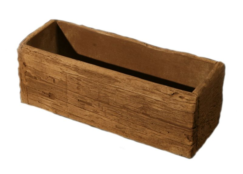 Timber Look Concrete Planter L50cm