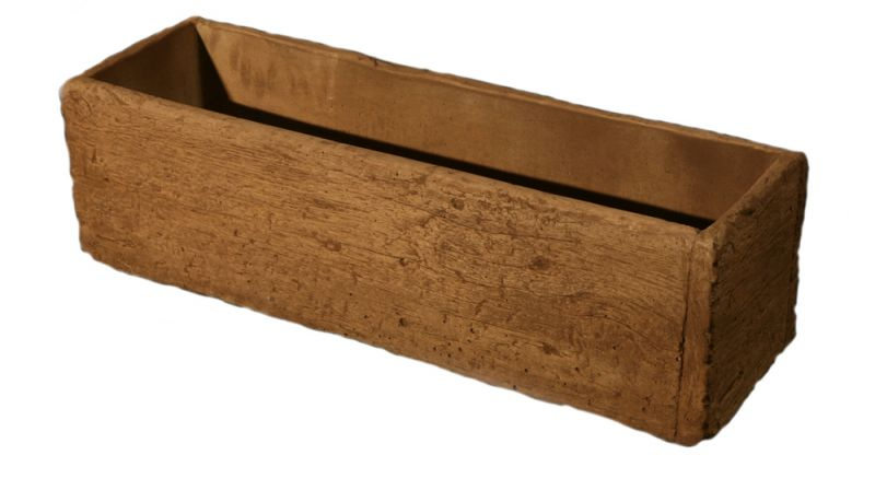 L83cm Concrete Timber Look Deep Planter
