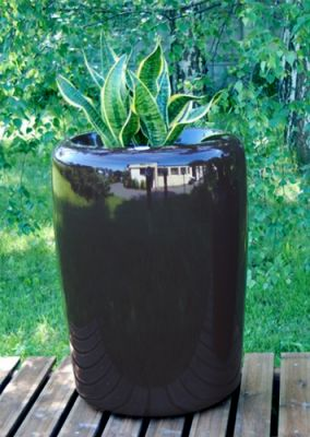 Tracino  Large Planter in Anthracite - 75 Dia 55
