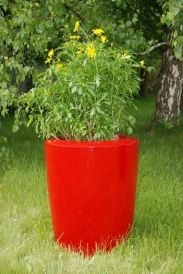 Anakena XLarge Planter in Red – H100cm x Dia80cm