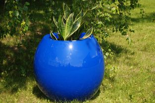 Manacor  Small Planter in Blue – H45xDia48