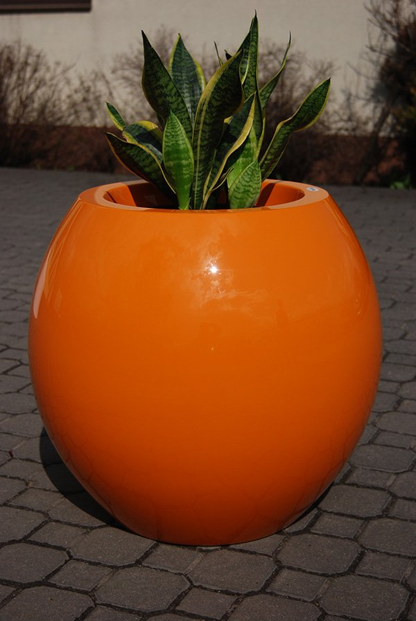 Manacor  Small Planter in Orange – H45xDia48