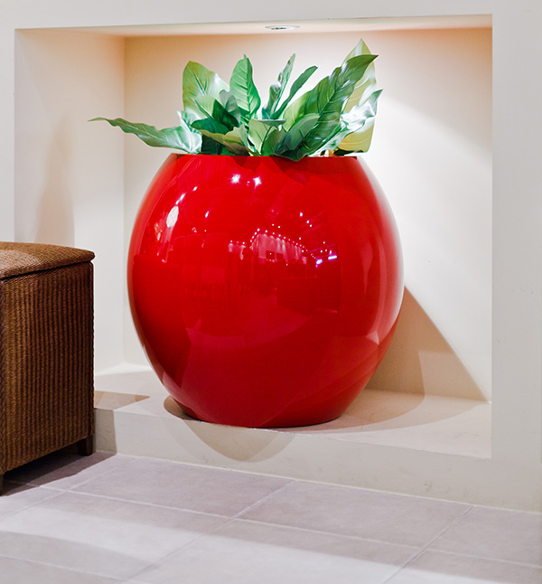 Manacor Large Planter in Red  – H75xDia75