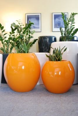 Manacor XXLarge Planter in Orange – H125cm x Dia130cm