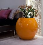 Manacor  Large Planter in Orange  – H75xDia75