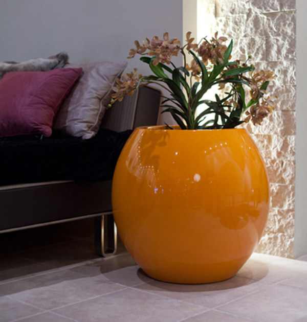 Manacor XLarge Planter in Orange  – H100cm x Dia105cm