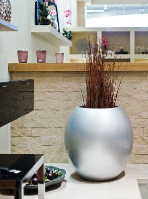 Manacor Large Planter in Sliver  – H75xDia75