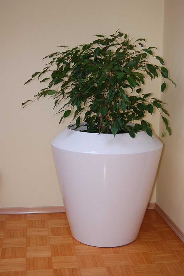 Canico Medium Planter in White – H60xDia60