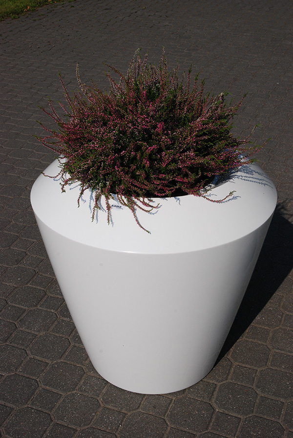 Canico Large Planter in White – H75xDia75