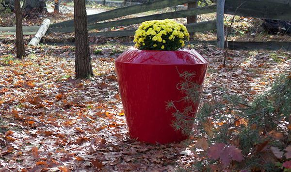 Canico Large Planter in Red – H75xDia75