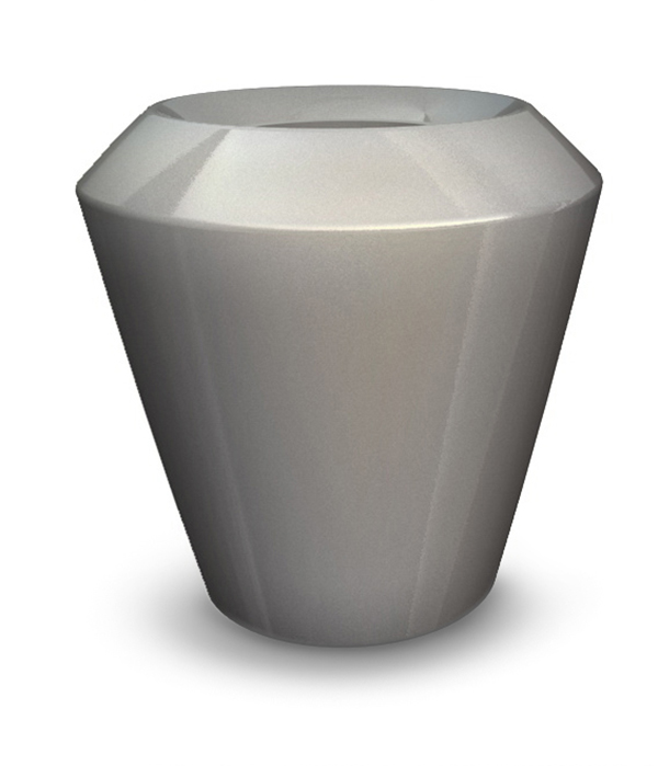 Canico  Large Planter in Silver – H75xDia75