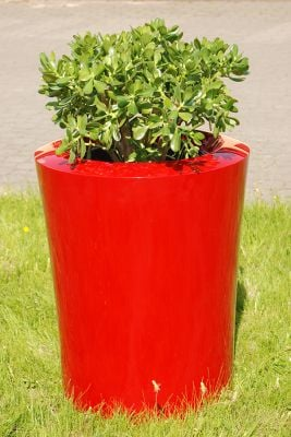 Garafia Medium Planter in  Red – H60xDia50