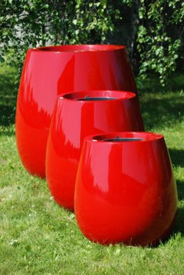 Silba Small Planter in Red – H45xDia45
