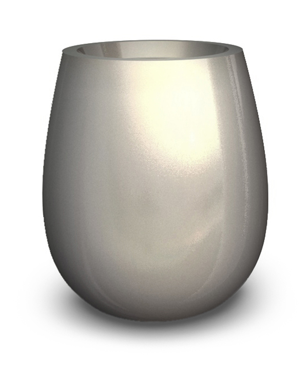 Silba Medium Planter in Silver  – H60xDia60
