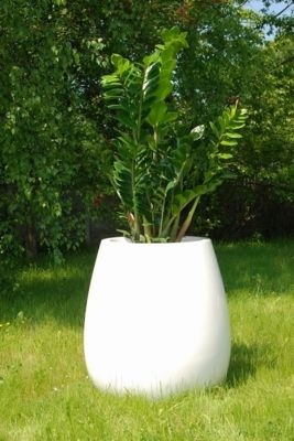 Silba Large Planter in White  – H75xDia70