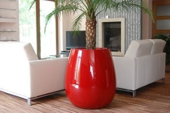 Silba XLarge Planter in Red– H100cm x Dia100cm