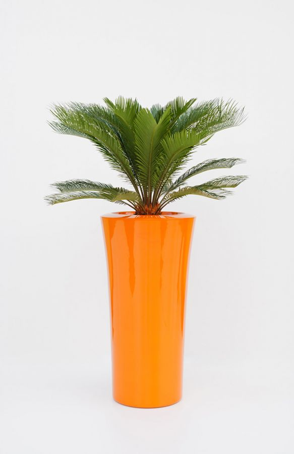 Parga XLarge Planter in Orange – H100xDia52