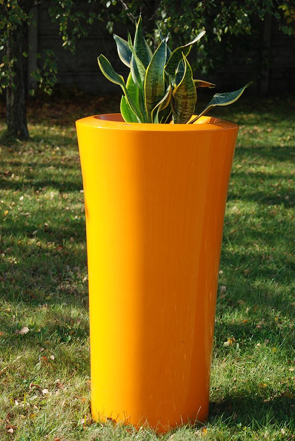 Parga XXLarge Planter in Orange – H125xDia60