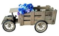 Decorative Pine Truck Planter - H34cm x L63cm