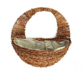 Rattan Wall Basket Planter - 40cm