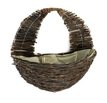 Dark Willow Wall Basket Planter - 40cm