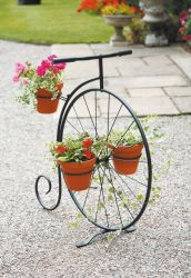 Decorative Penny Farthing Planter Stand - H89cm x L86cm