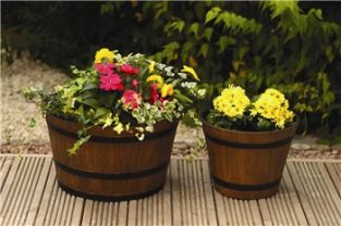 Botanico Whiskey Barrel Planter - H23cm x D28cm