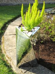 Tri-Twist Brushed Stainless Steel Planter - 60cm x 60cm