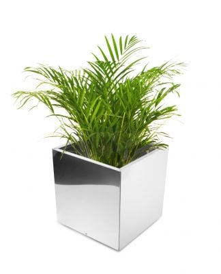 60cm Stainless Steel Mirrored Cube Planter