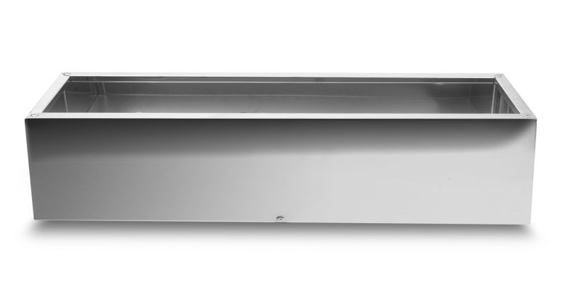100cm Stainless Steel Mirrored Trough Planter