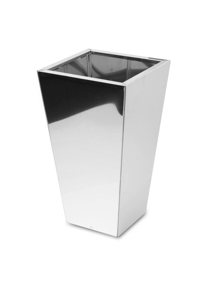Square Taper Mirrored Stainless Steel Planter - 40cm x 70cm