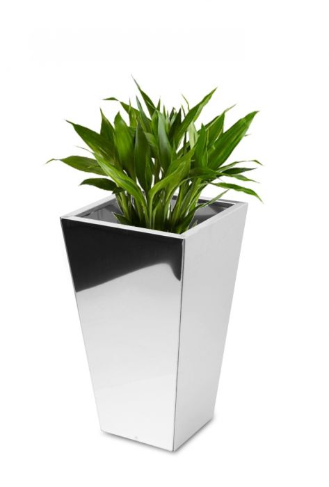 70cm Stainless Steel Mirrored Square Taper Planter