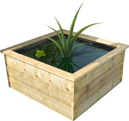 Aquatic Planter with PVC Liner - 0.45m x 0.9m x 0.9m
