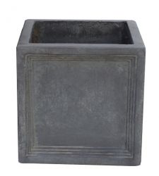 Mayfair Fibrecotta Lead Cube Planter - 32cm