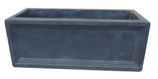 Mayfair Fibrecotta Lead Trough Planter - 50cm
