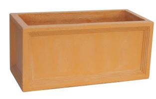 Mayfair Fibrecotta Terracotta Trough Planter - 60cm