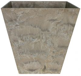 40cm Taupe Ella Artstone Planter with Hidden Drainage System