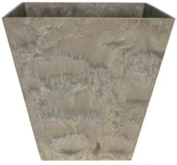 Taupe Ella Artstone Planter with Hidden Drainage System - 40cm