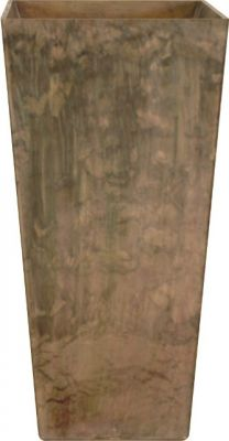 49cm Taupe Ella Artstone Vase Planter with Hidden Drainage System