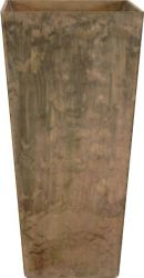 Taupe Ella Artstone Vase with Hidden Drainage System - 90cm