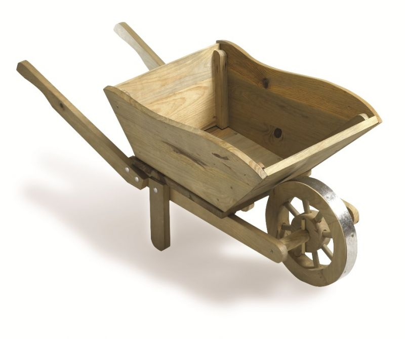 Decorative Pine Wheelbarrow Planter H40cm X L98cm 163 29 99
