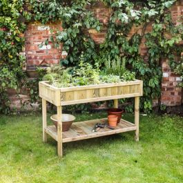 Raised Wooden Herb Bed 122cm