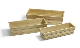 Wooden Window Box Trough Planter - Small H17cm x L62cm