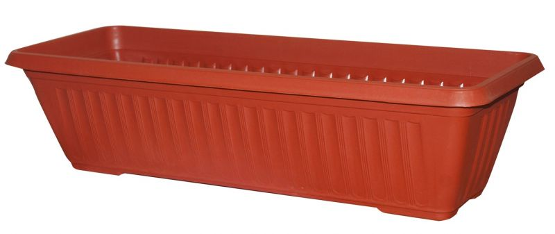 60cm Plastic Terracotta Trough Planter