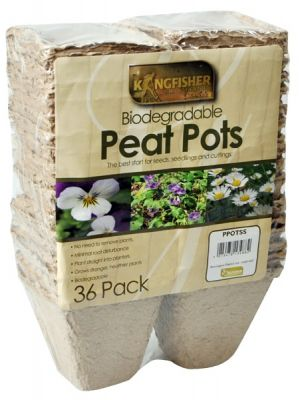 Pack of 36 Biodegradable Square Peat Planter Pots